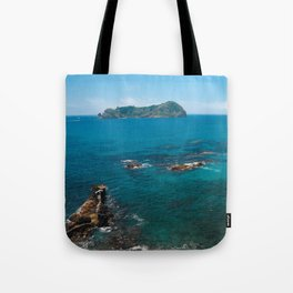 Small bay and islet Tote Bag