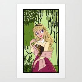 Into The Woods: Briar Rose Art Print