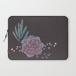 Earthy Brown Succulent Laptop Sleeve