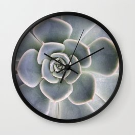 Succulent Leaf Close Up Photography | Plant | Cactus | Botanical Wall Clock