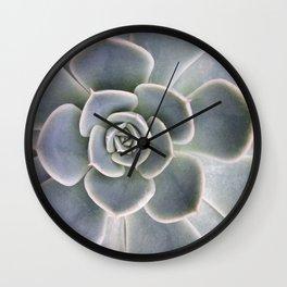 Succulent Leaf Close Up Photography | Plant | Cactus | Botanical Wall Clock