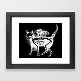 Devil Kitty - inverted Framed Art Print