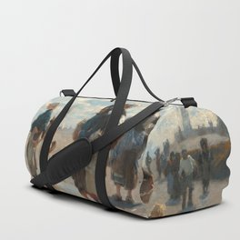 Setting Out to Fish Oil Painting by John Singer Sargent Duffle Bag