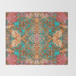 Pretty Boujee Boho Mandala Throw Blanket