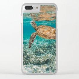 Turtle ii Clear iPhone Case