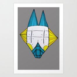 Robo dog Helgi Art Print