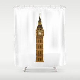 Big Ben Isolated Shower Curtain