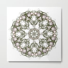 Apple garden mandala Metal Print