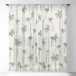 Tropic Palms Sheer Curtain