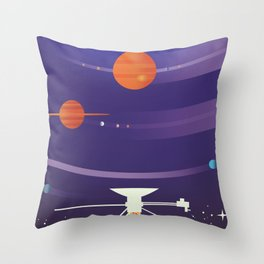 Voyager Grand Tour Science poster Throw Pillow
