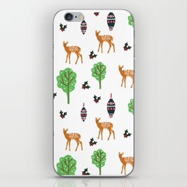 Xmas Deer Pattern iPhone Skin
