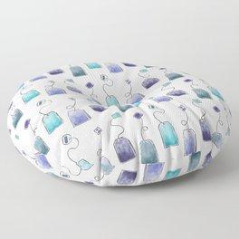 Blue tea bags Floor Pillow
