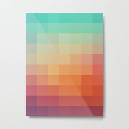 Geometric sunset Metal Print