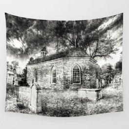 Sleepy Hollow Dutch Church Vintage Wall Tapestry