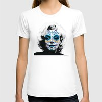 marylin monroe T-shirts featuring Marylin de los Muertos 2 by jazzyjules63