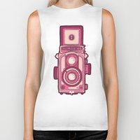 vintage camera Biker Tanks featuring Vintage Camera by evannave