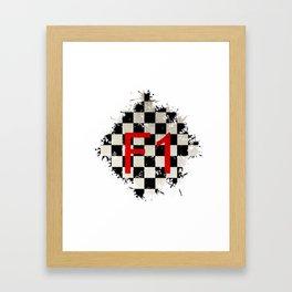The Chequered Splatter Framed Art Print