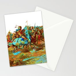 charles marion russel (custer fight)1903 Stationery Cards