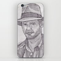 indiana jones iPhone & iPod Skins featuring Indiana by jamestomgray