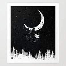 Goodnight Sloth Art Print