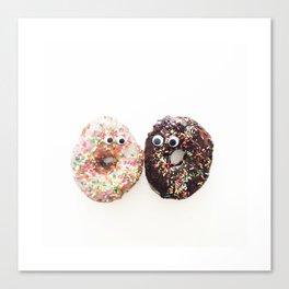 Donut Conversation Food Photography Canvas Print