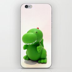 Happy Green Dinosaur iPhone & iPod Skin