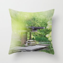At the Lily Pond - Chicago Photography Throw Pillow
