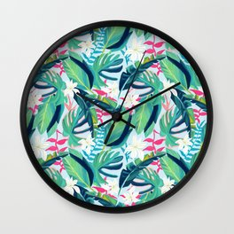 Tropical Eye Candy #painting #illustration #nature Wall Clock
