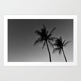 Grey Aloha Art Print