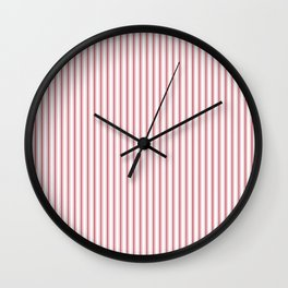 Mattress Ticking Narrow Striped USA Flag Red and White Wall Clock