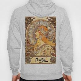 Alphonse Mucha Zodiac La Plume Hoody