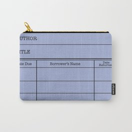 LiBRARY BOOK CARD (twilight) Carry-All Pouch