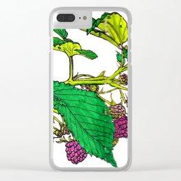 Scottish Raspberries Clear iPhone Case