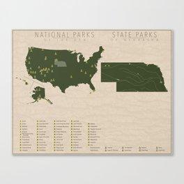 US National Parks - Nebraska Canvas Print