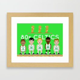 The 1980s Celtics Framed Art Print