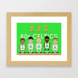 The 1980s Celtics Framed Art Print