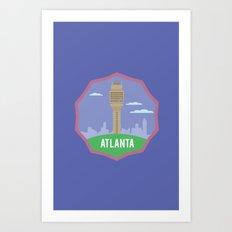 ATLANTA (I LOVE USA SERIE) Art Print