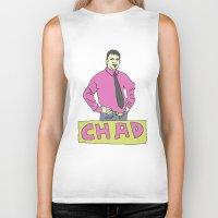chad wys Biker Tanks featuring chad by gutswav
