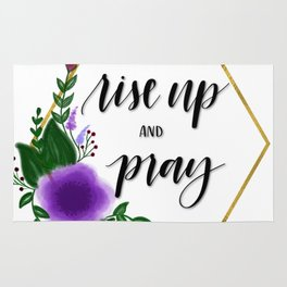 Rise up and pray Rug