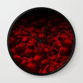 cherries pattern hvhddr Wall Clock
