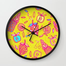 Tropicana on Yellow Wall Clock