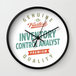 Inventory Control Analyst Wall Clock