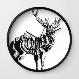 Mecha deer Wall Clock