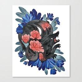 Lotus Wolf Canvas Print