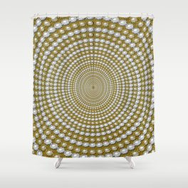 Spiral Pearls Shower Curtain