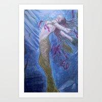 mermaid 2 Art Print