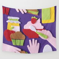 breakfast Wall Tapestries featuring Breakfast by Jacopo Rosati