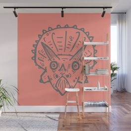 Asteroid Anxiety - Triceratops Wall Mural