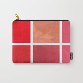 Mottled Red Poinsettia 2 Abstract Rectangles 1 Carry-All Pouch