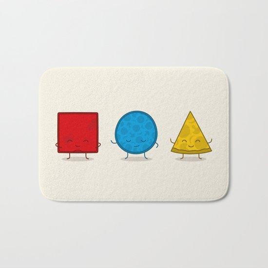 Bauhaus Pizza - Cute Doodles Bath Mat